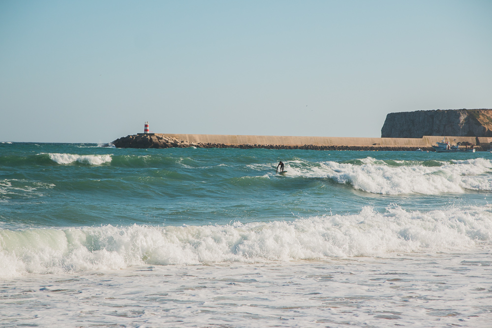Surfer at Praia do Martinhal