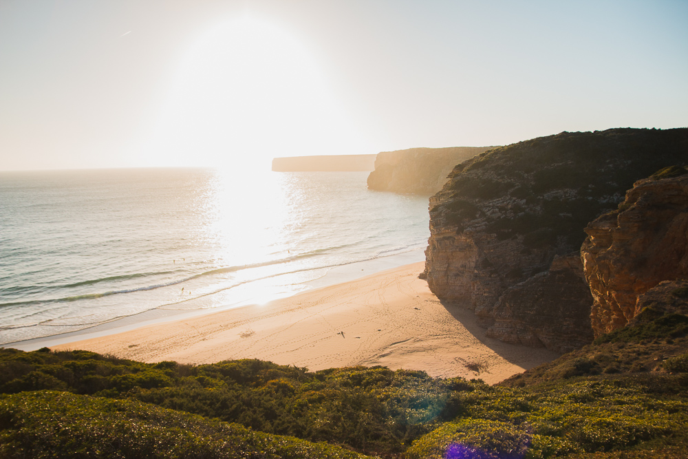 Praia do Beliche at Sunset