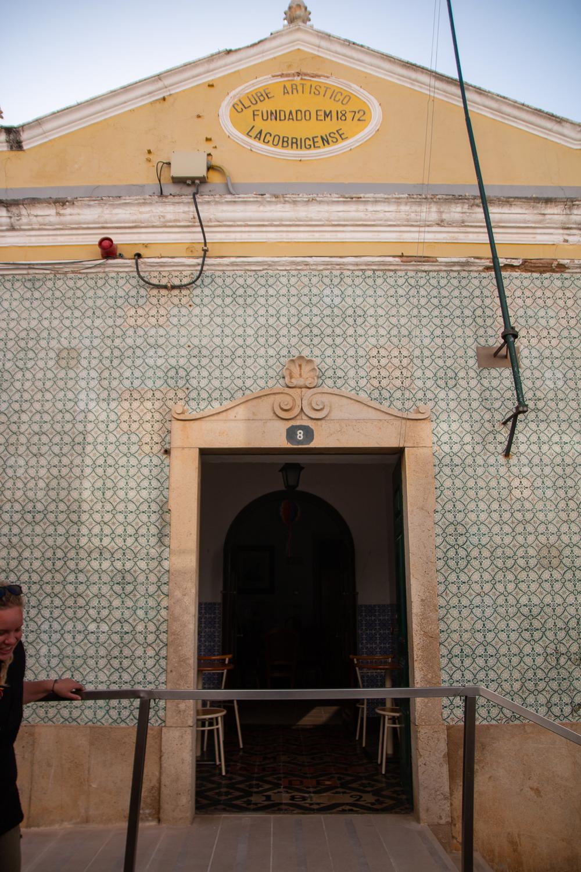 Tiled buildings in Lagos, Portugal