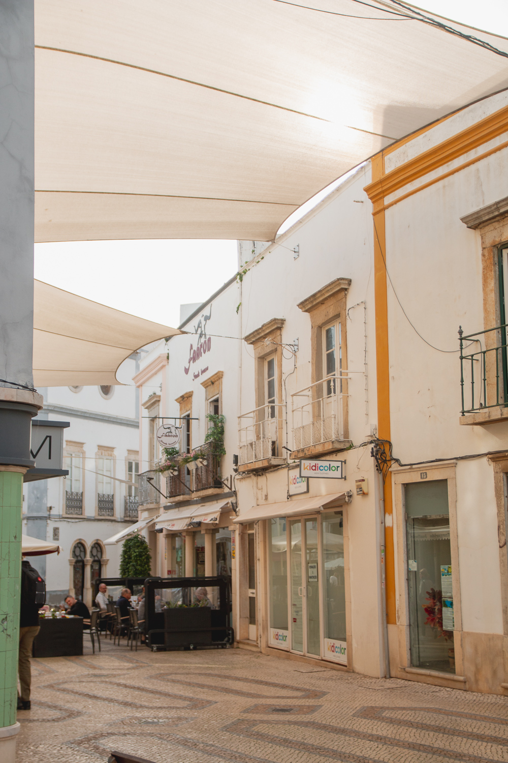 Exploring the streets of Faro in the Algarve, Portugal
