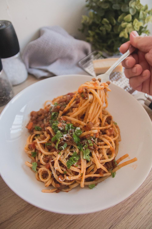 Vegan Lentil Bolognese Recipe