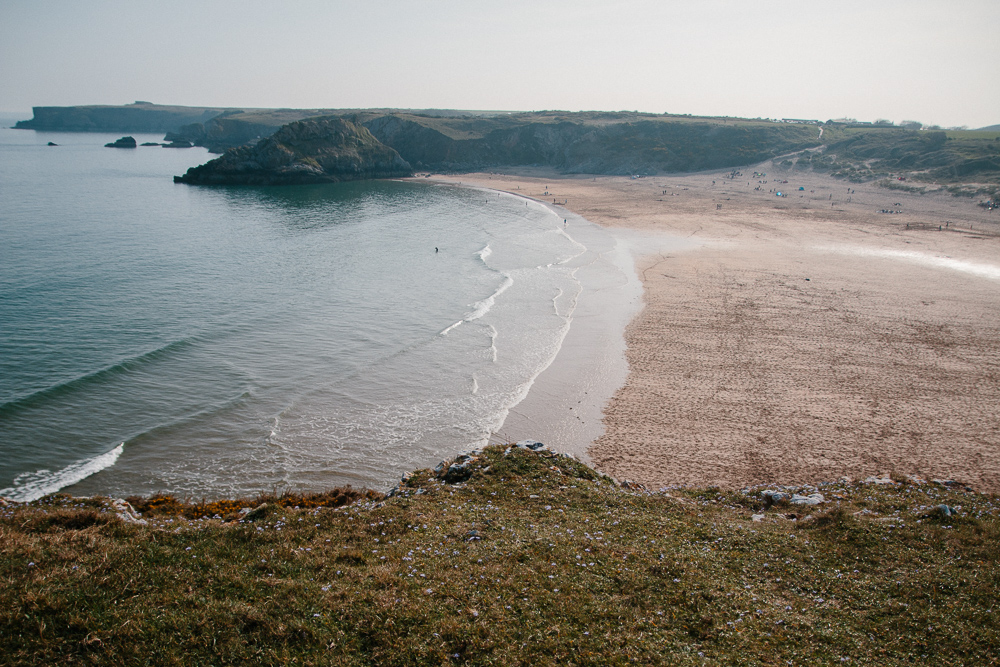 Broadhaven Beach at Bosherton in Pembrokeshire