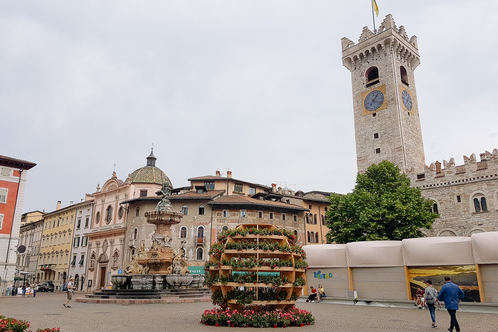 Piazza Duomo set up for Traverse 19 in Trento, Italy