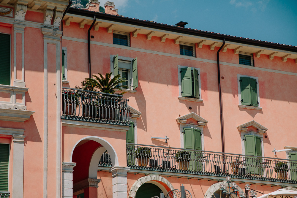 Pink Building at Riva del Garda