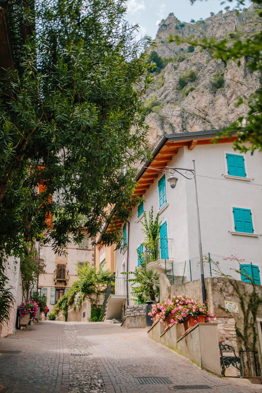A colourful street in Limone, Lake Garda