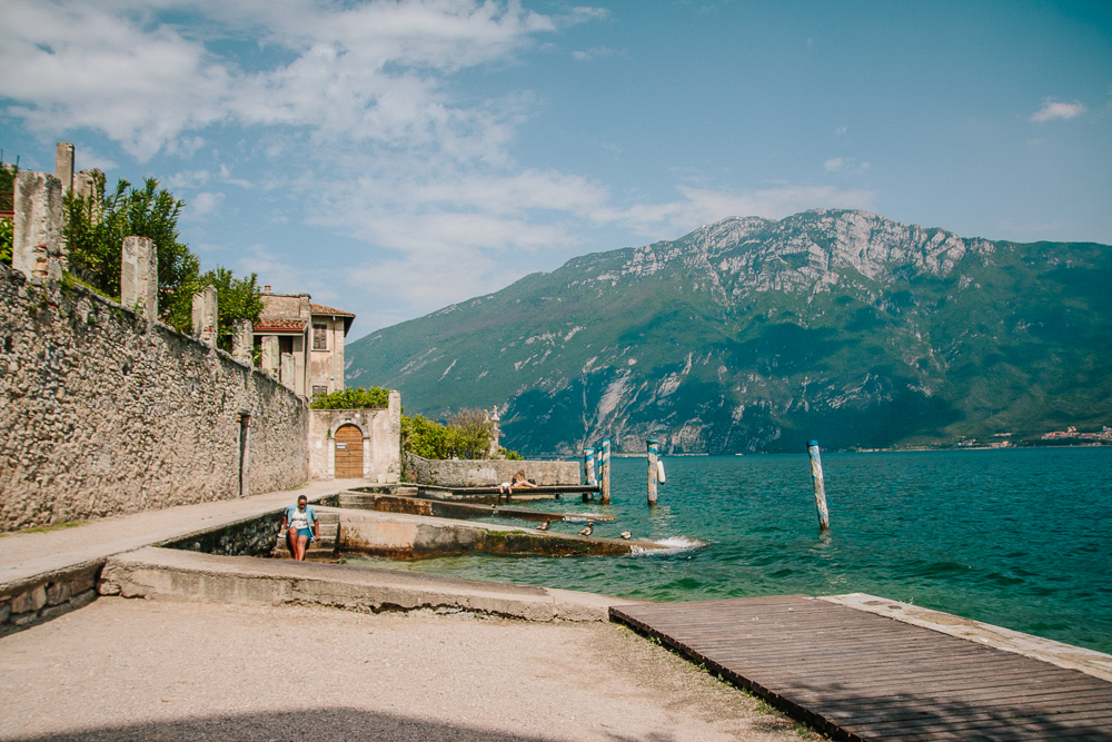 Small Marina in Limone, Lake Garda