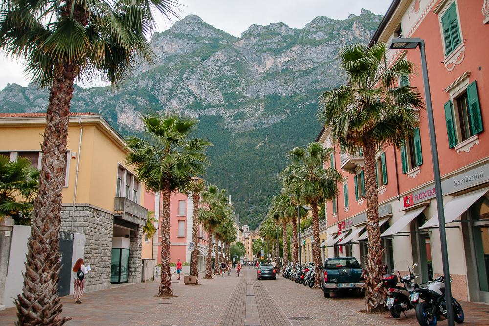 Colourful Street in Riva del Garda