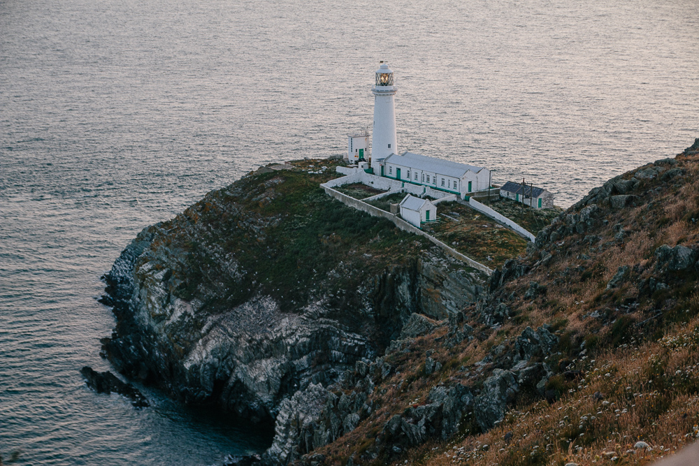 Sunset at South Stack Lighthouse, Anglesey