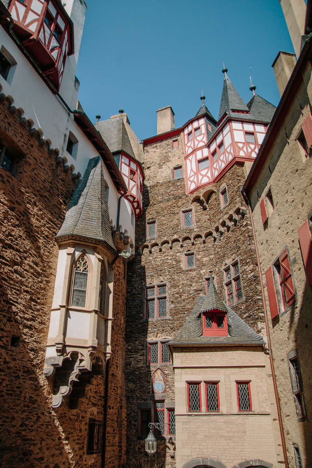 Courtyard at Burg Eltz Castle