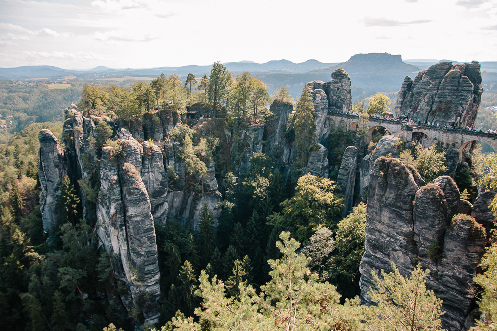 The Bastei Bridge in Saxon Switzerland