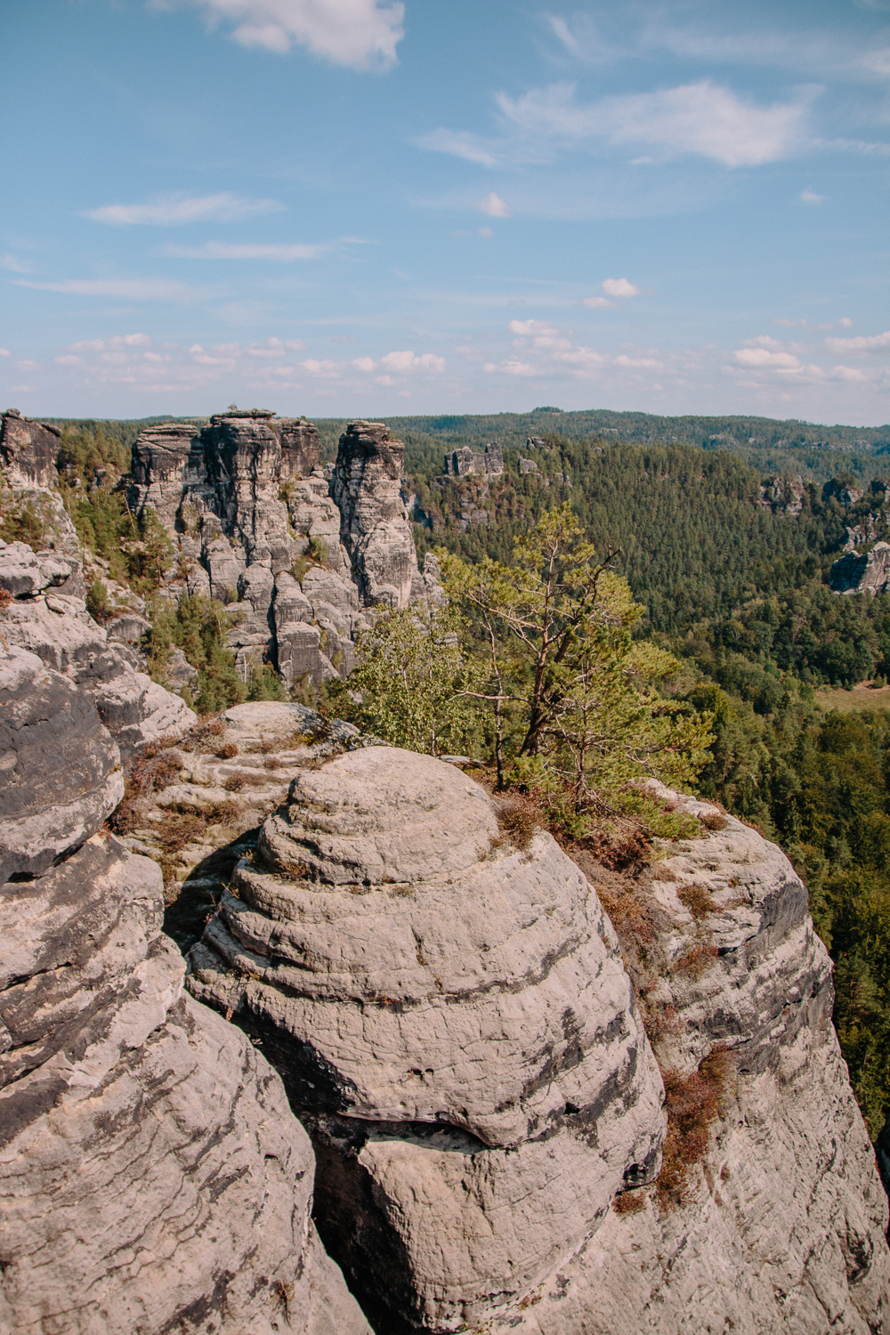The Elbe Sandstone Mountains in Saxon Switzerland