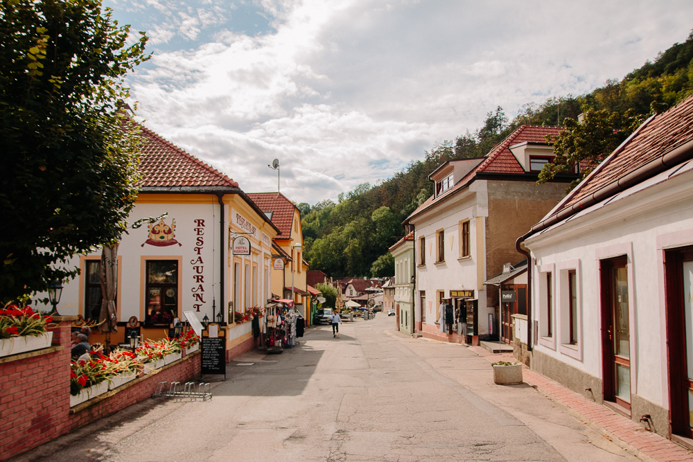 The streets of Karlstejn