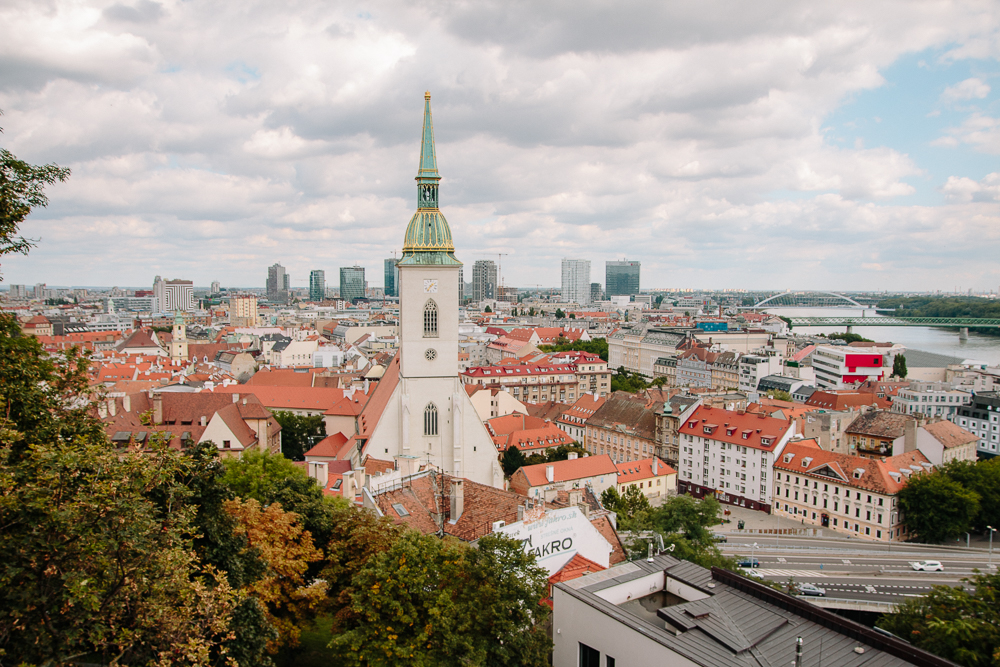 View of Bratislava Old Town from the Castle