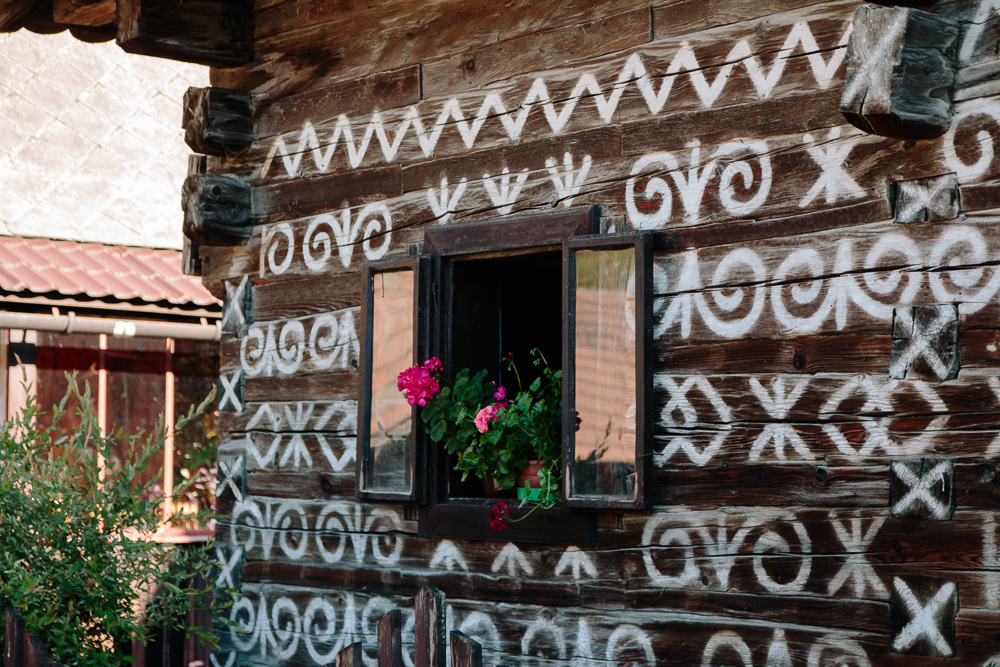 Traditional Slovak Painted Houses in Cicmany