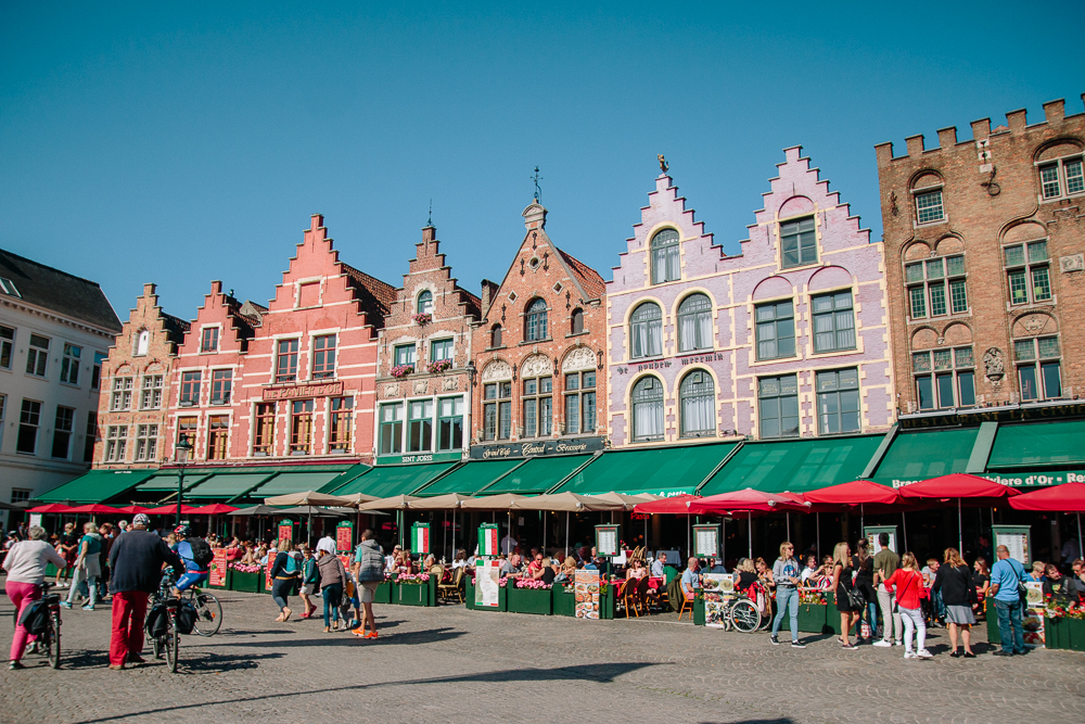Bruges Main Square Buildings