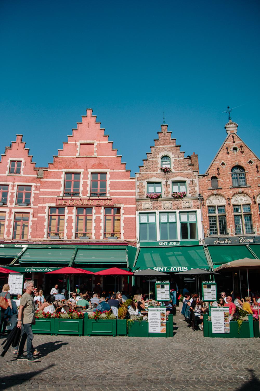 Bruges Main Square Buildings