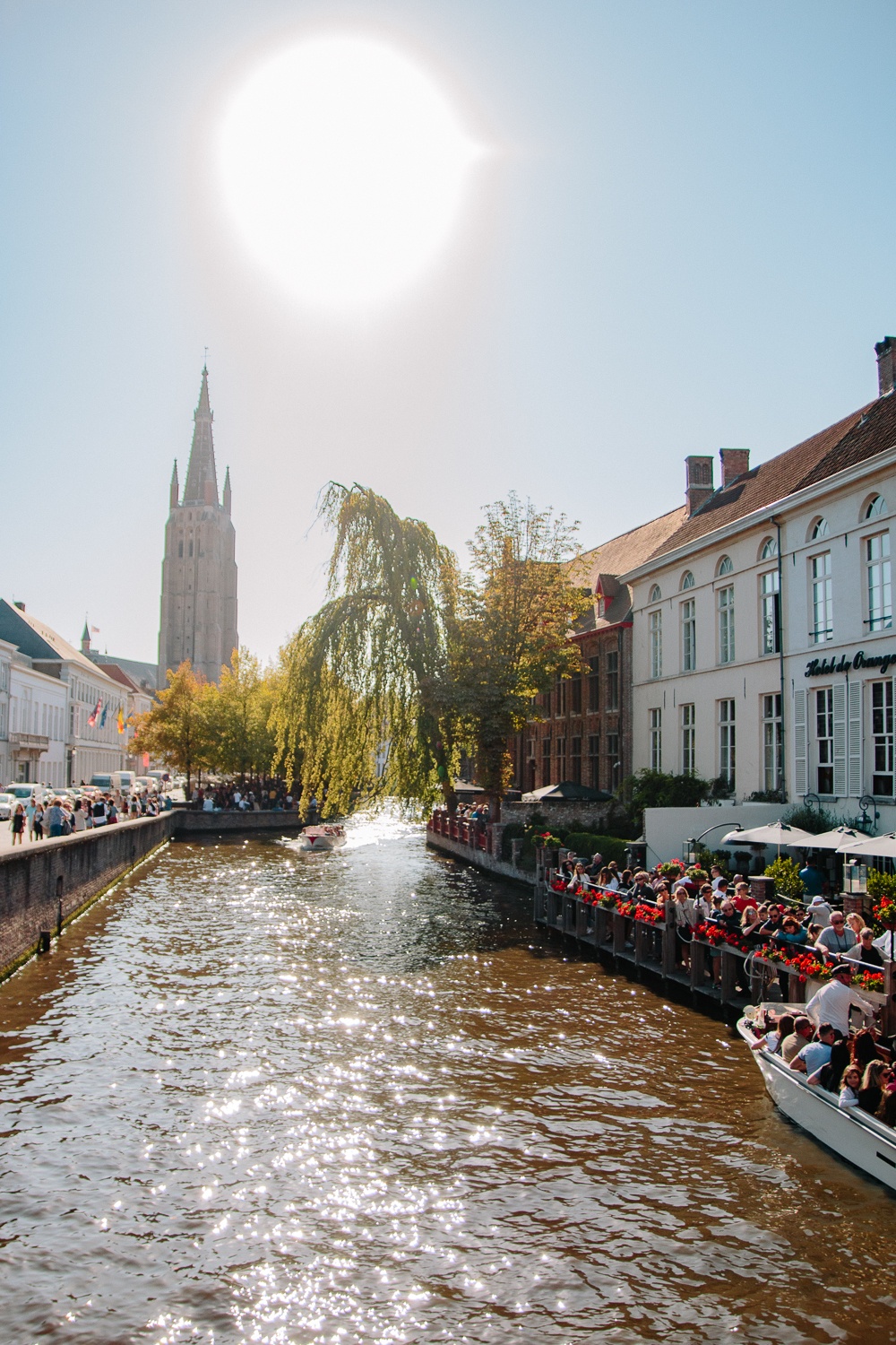 River running through Bruges
