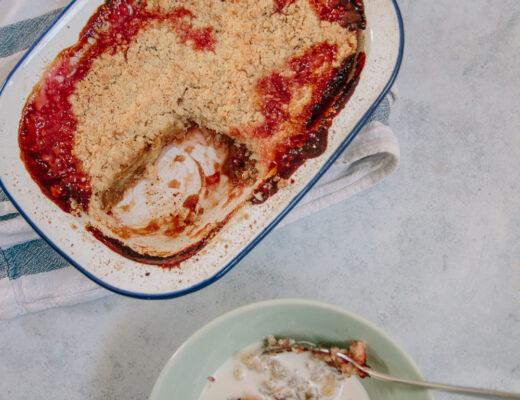 Rhubarb + Coconut Crumble Recipe