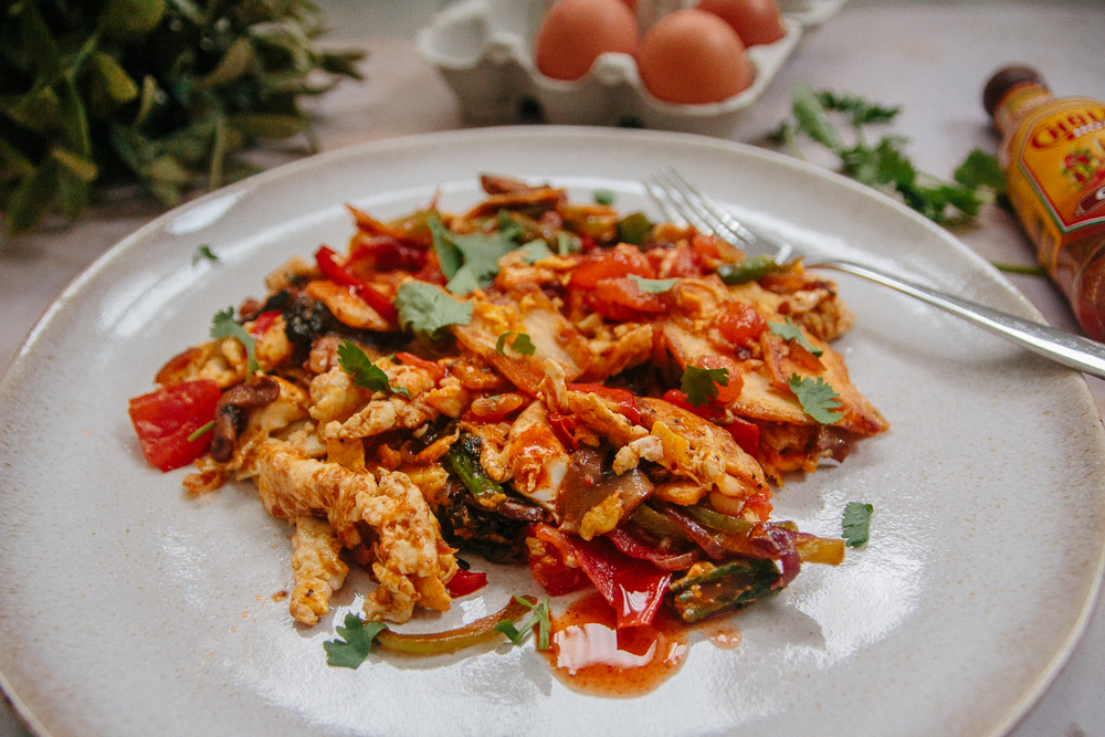 Mexican Inspired Scrambled Eggs Recipe