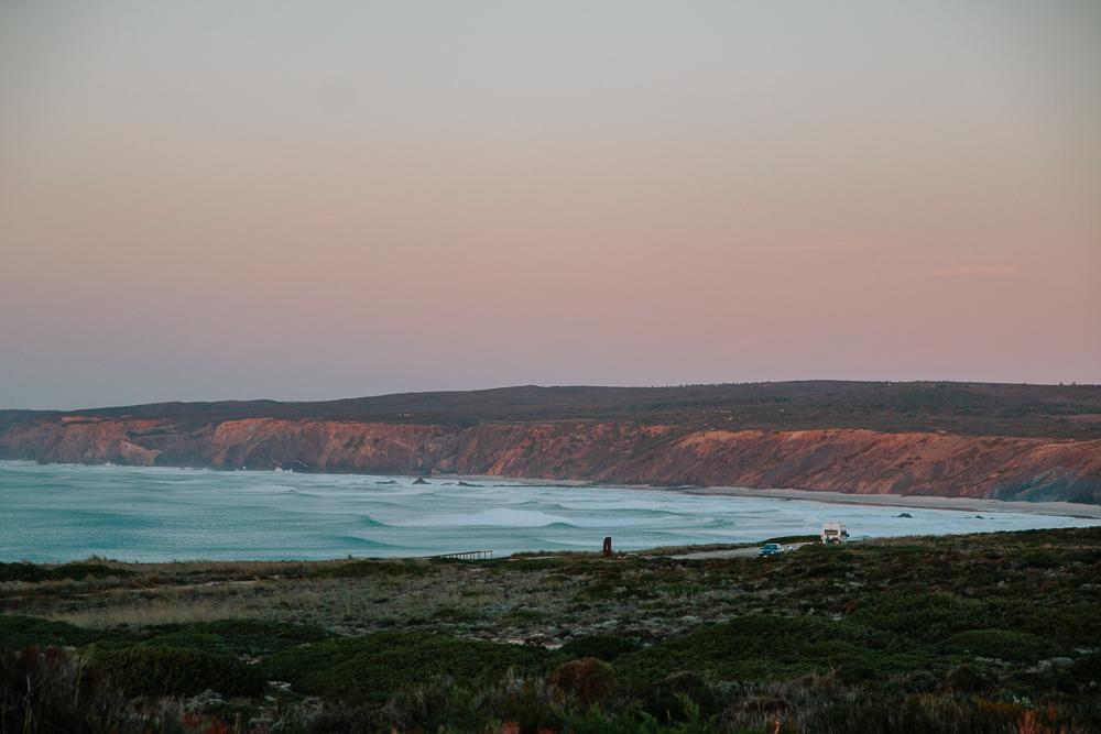 Praia da Bordeira at Sunset