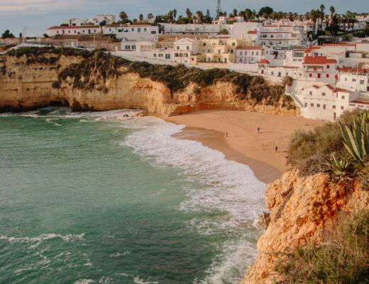 View Over Carvoeiro Beach