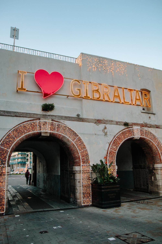 I Love Gibraltar Sign