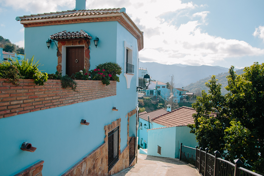 Blue Village of Juzcar in Spain
