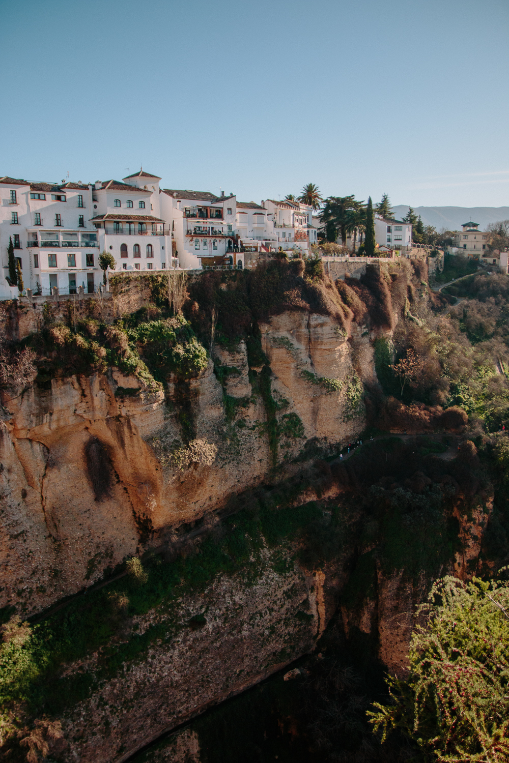 Houses on top of the Cliff in Ronda Spain