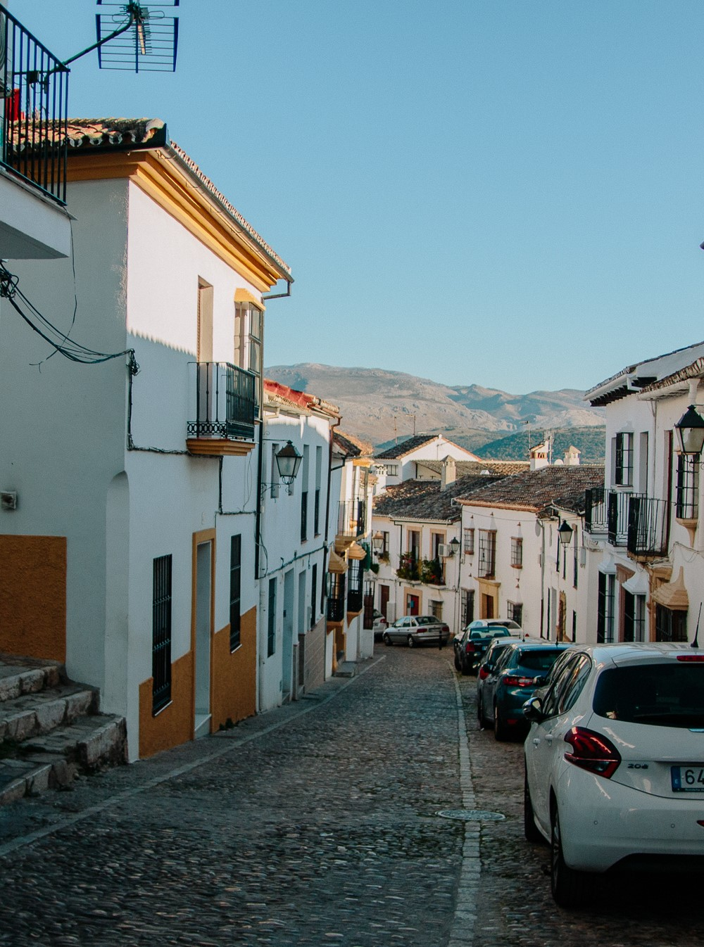 Whitewashed streets of Ronda, Spain