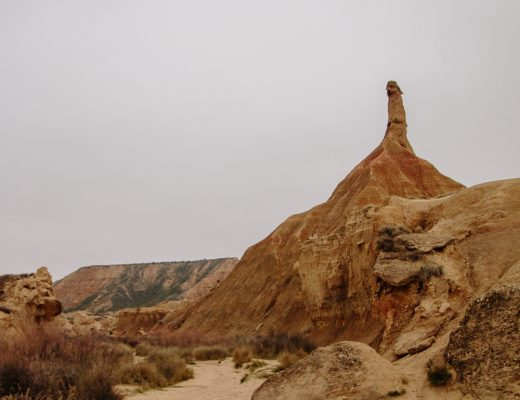 Castil de Tierra in the Bardenas Reales desert in Navarre, Northern Spain