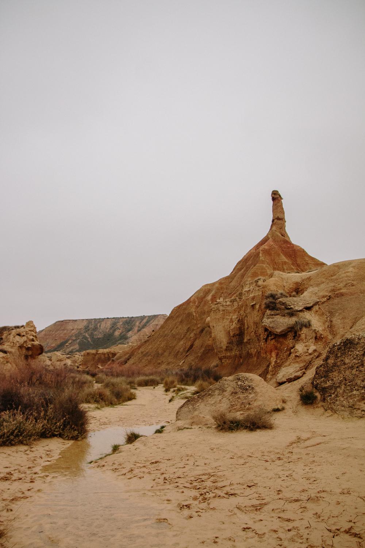 Castil de Tierra in the Bardenas Reales desert in Navarre, Northern Spain