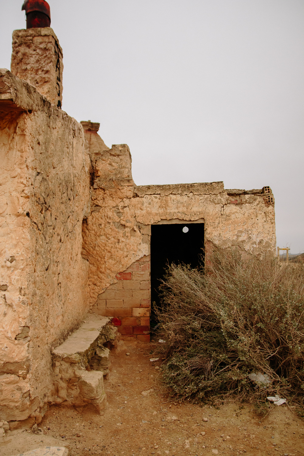 Abandoned Building in the Bardenas Reales desert in Navarre, Northern Spain