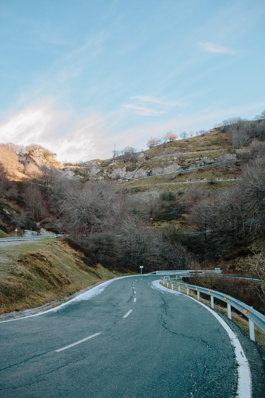Road on Mirador de Olazagutía at Urbasa Andia National Park
