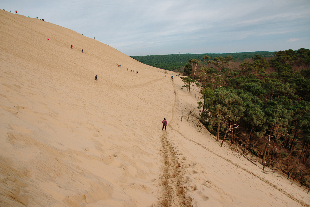 Walking along the dune du pilat