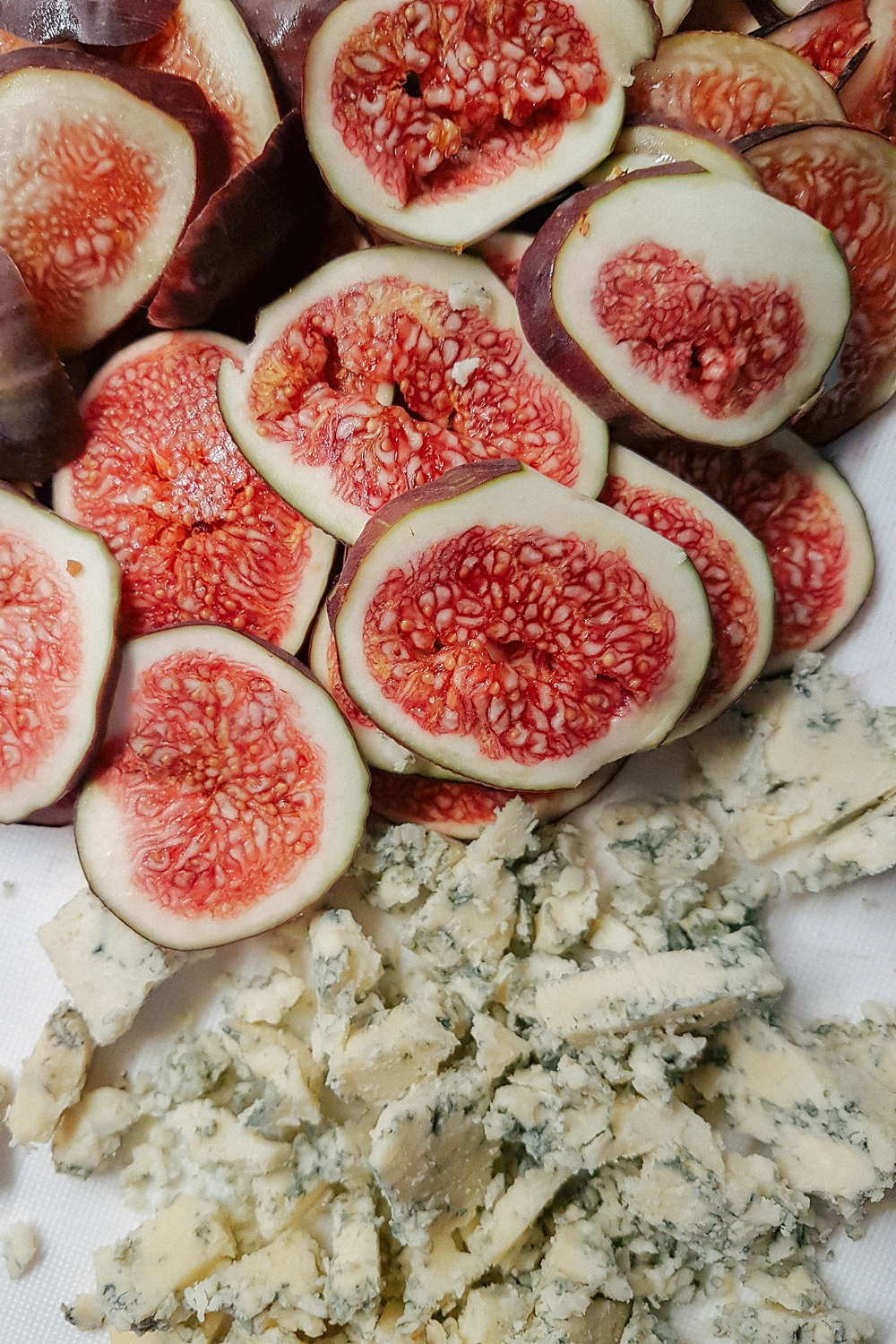 Fig and Stilton blue cheese