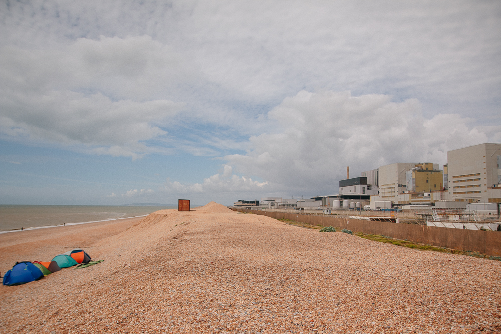 Shingle Beach and Nuclear Power Station at Dungeness in Kent