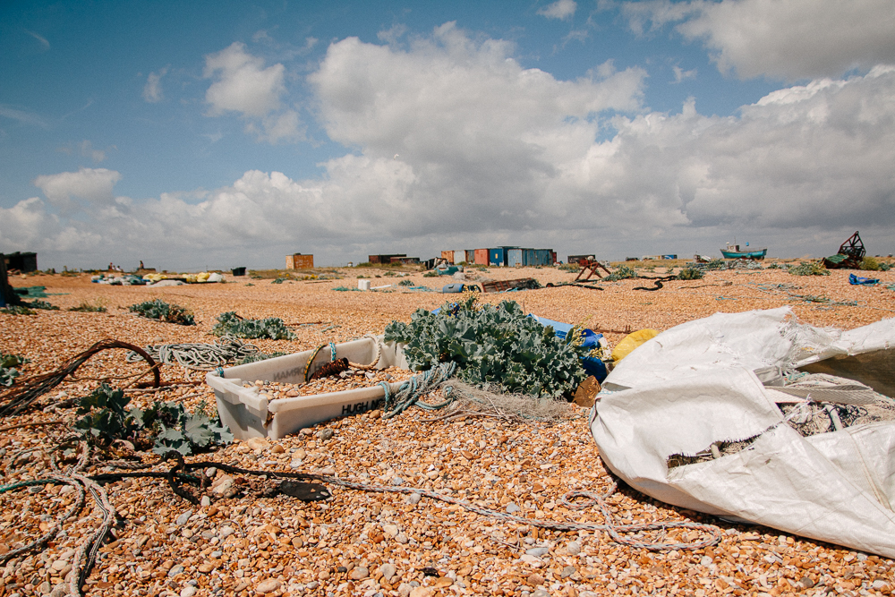 Fishing Supplies at Dungeness Nature Reserve in Kent