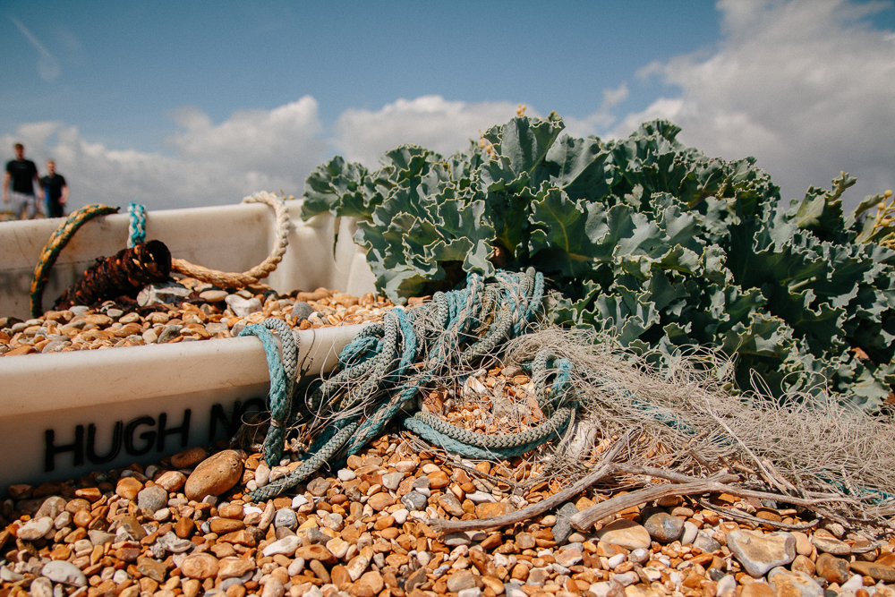 Old Abandoned Fishing Supplies in Dungeness Nature Reserve in Kent